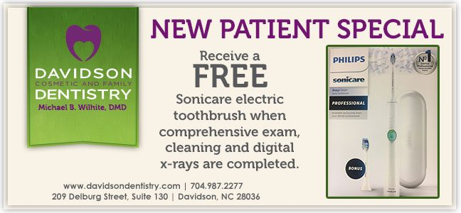 New Patient Special - Receive a FREE Sonic Toothbrush when comprehensive exam, cleaning, and digital x-rays are completed